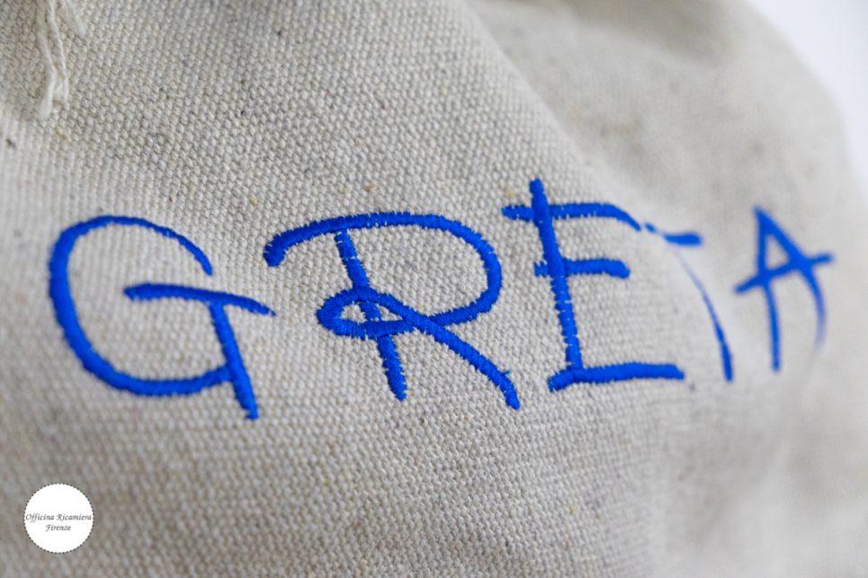 borsa bag t-shirt maglietta officina ricamiera holly pon pon salinas
